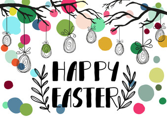 Happy Easter holiday celebration card