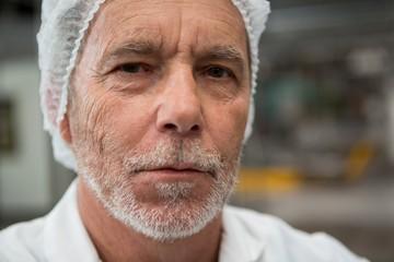 Portrait of male worker in factory
