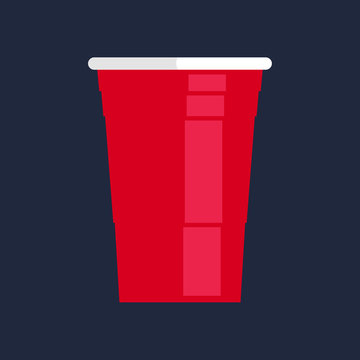 Red party cup, material design