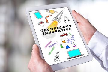 Technology innovation concept on a tablet
