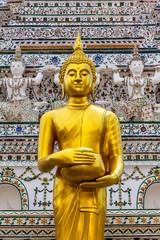 Thai buddha statue in buddhism religion