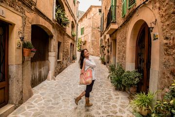 Valldemossa - old mountain village in beautiful landscape scenery of Mallorca, Spain