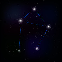constellation of Libra . vector image of a constellation