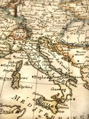 アンティークの世界地図 ヨーロッパ
