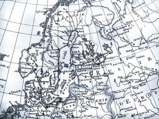 アンティークの世界地図 北ヨーロッパ