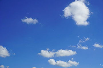 blue sky with cloud closeup
