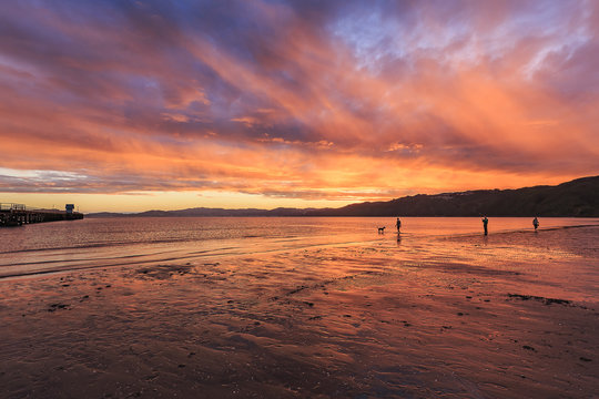 Sunset Petone Beach