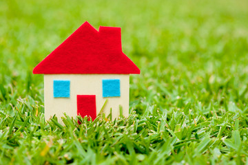 House - Home on grass background