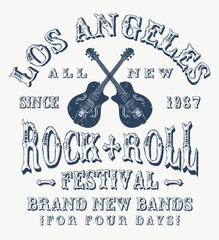 Rock and Roll graphics, concert poster, electric guitars
