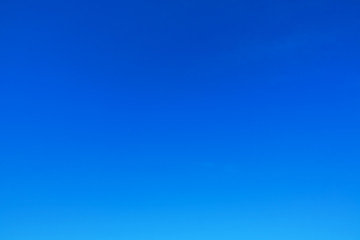 blue sky without clouds