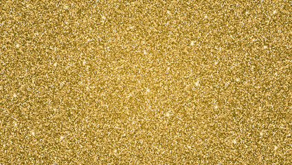 Abstract shiny gold glitter background. Bright substrate, a template for greeting cards, advertisements, invitations and any of your design.