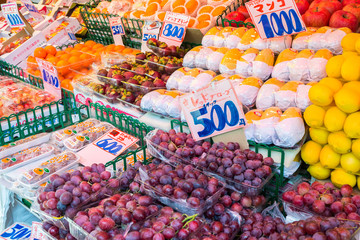 Fresh fruits for sell at Ameyoko Market.