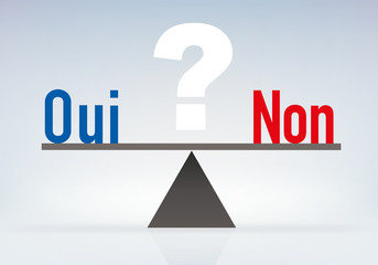équilibre -  référendum - décision - choix - Oui - Non