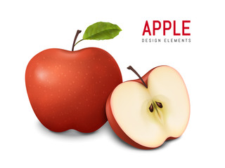 red apples illustration