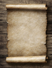 vintage parchment or scroll