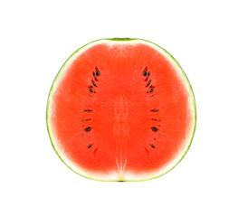 half watermelon on white background