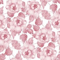 Papiers peints Fleurs Vintage Hand drawn watercolor floral seamless pattern. Background with flowers