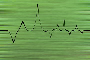 green background cardiogram