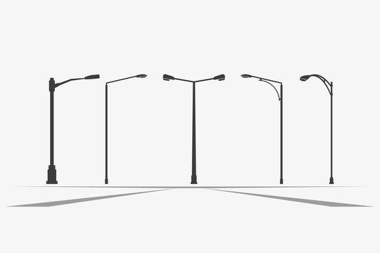 Street light vector icon.