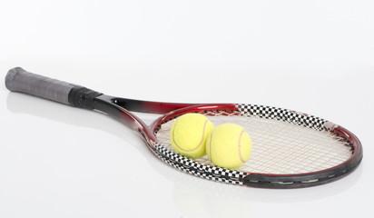 Tennisschläger liegend