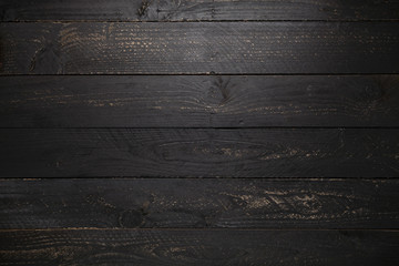 black wooden table texture background.