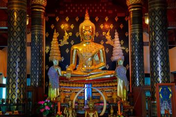 Phra Phuttha Chinnasi Buddha Image at Wat Phra Si Rattana Mahathat Temple, Phitsanulok, Thailand