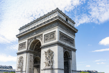 Arc de triomphe in Paris, one of the most famous monuments