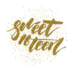 Sweet Sixteen - lettering design