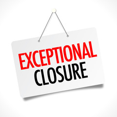 Exceptional closure