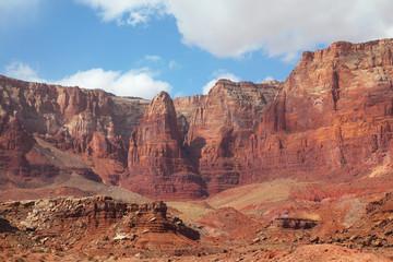 Red stone desert