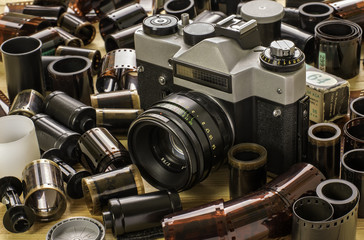 Old film camera and films