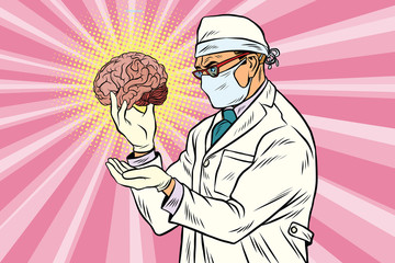 Surgeon doctor and the human brain
