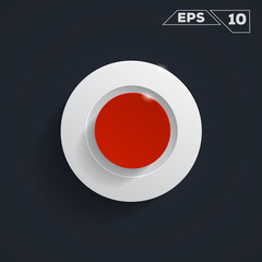 circle button icon background Flat Design (for Logos, Flyers, Covers, Posters, Banner) Vector illustration.
