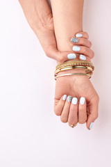 Fototapete - Stylish manicure and accessories.