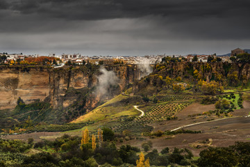 Ronda is a mountaintop city in Spain's Malaga province in Andalusia.