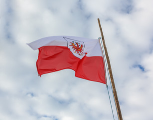 The state flag of the Republic of Austria - Mayrhofen