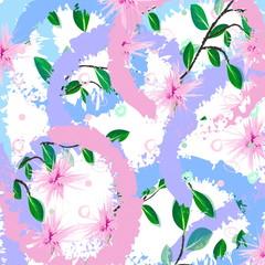 декоративный абстрактный цветочный узор