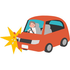 a traffic accident of the elderly driver