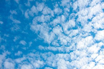 blue sky and tiny clouds on nature background texture