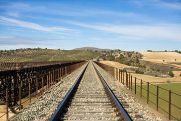 Metal bridge train