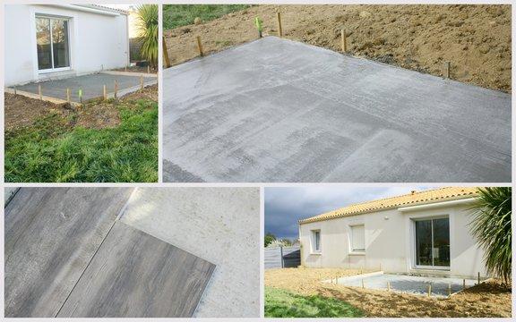 montage,construction de terrasse  de maison