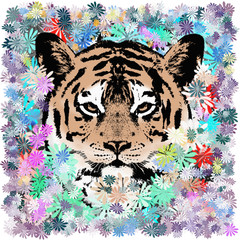 Tiger im Blumen-Dschungel