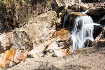 Waterfall in the national park Baho in Vietnam
