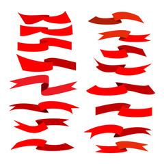 Flat ribbon red set