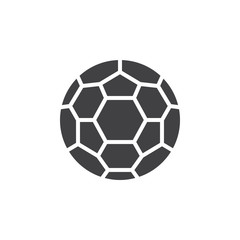 Soccer ball icon vector, filled flat sign, solid pictogram isolated on white. Symbol, logo illustration. Pixel perfect