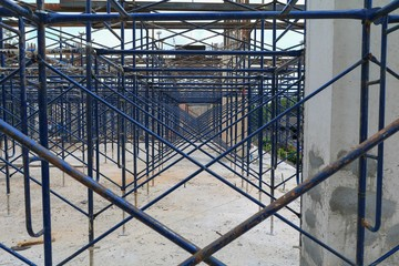 work construction and scaffold in site workplace  building