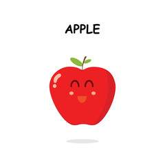 apple character in white background