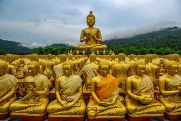 Buddha image with his discuple statues