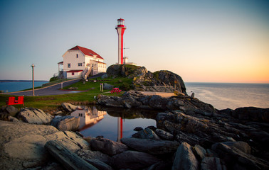 Fototapeten Leuchtturm lighthouse in nova scotia