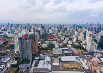 Foto op Canvas Afrika Aerial view of Cityscape of Bangkok